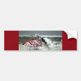 El practicar surf del viento - pegatina para el pegatina para auto