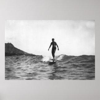 El practicar surf en la persona que practica surf  impresiones