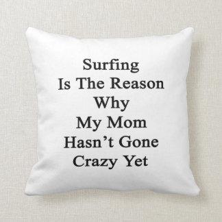 El practicar surf es la razón por la que mi mamá cojín