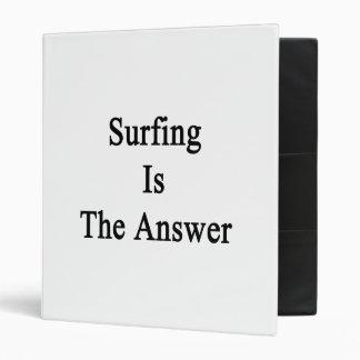 El practicar surf es la respuesta