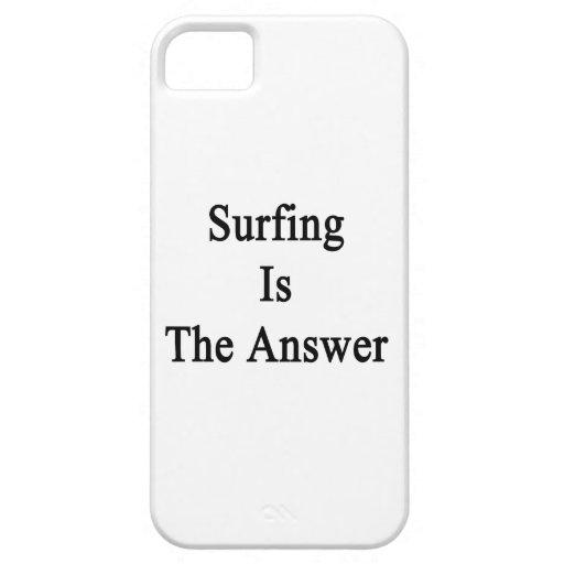 El practicar surf es la respuesta iPhone 5 carcasas