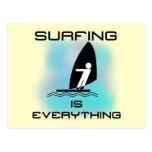 El practicar surf es todo las camisetas y los rega postales