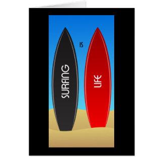 El practicar surf es zen de la vida tarjeta de felicitación