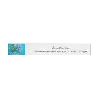 El practicar surf etiquetas postales