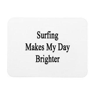 El practicar surf hace mi día más brillante imán