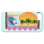 El practicar surf hawaiano iPhone 5 Case-Mate protector