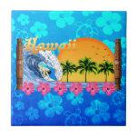 El practicar surf hawaiano tejas  cerámicas