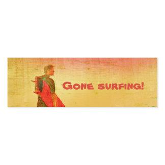 ¡El practicar surf ido! Tarjeta del negocio/del co Plantilla De Tarjeta Personal