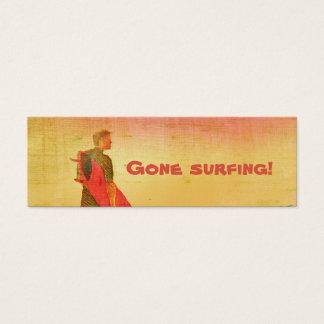 ¡El practicar surf ido! Tarjeta del negocio/del Tarjetas De Visita Mini