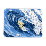 El practicar surf imán foto rectangular