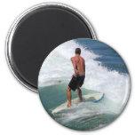 El practicar surf imán para frigorifico