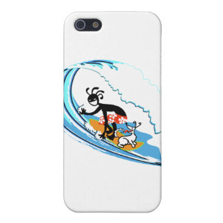El practicar surf iPhone 5 fundas