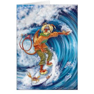 El practicar surf máximo - tarjeta