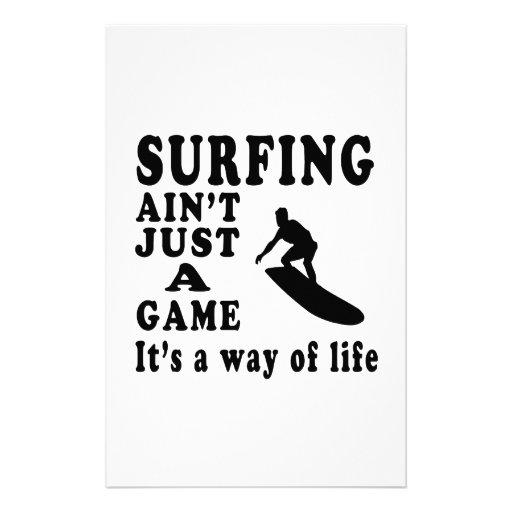 El practicar surf no es apenas un juego que es una papeleria personalizada