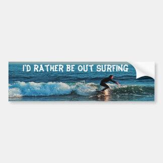 El practicar surf, pegatina para el parachoques pegatina para auto