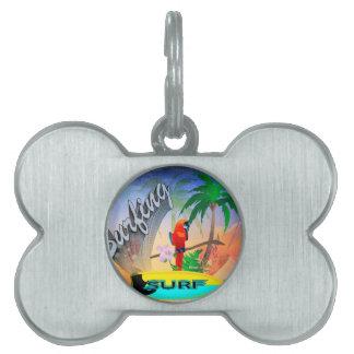 El practicar surf placas mascota