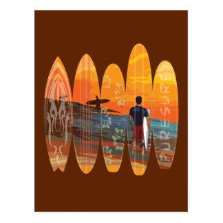 El practicar surf puro postal