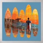 El practicar surf puro posters