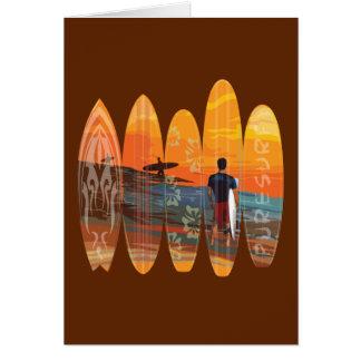 El practicar surf puro tarjeta de felicitación