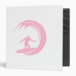 El practicar surf rosa claro
