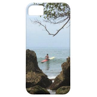 El practicar surf solitario de la tranquilidad de  iPhone 5 Case-Mate protector