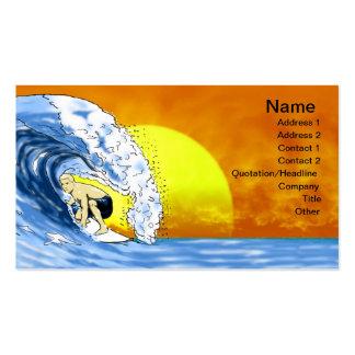El practicar surf tarjeta de visita