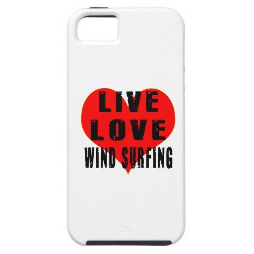 El practicar surf vivo del viento del amor iPhone 5 funda
