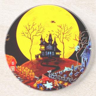 """El práctico de costa de Halloween """"guarda el corre Posavasos Cerveza"""