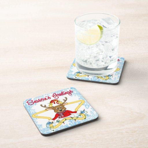 El práctico de costa de la bebida del reno de los  posavasos de bebida