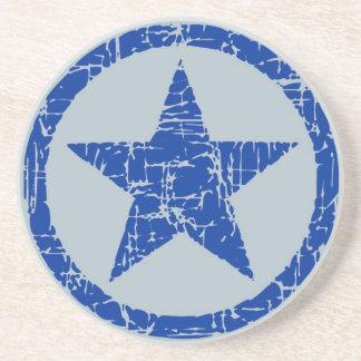 El práctico de costa, estrella en el círculo, azul posavasos para bebidas