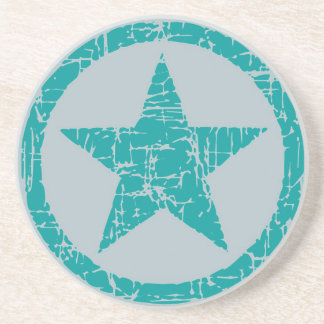 El práctico de costa, estrella en el círculo, turq posavasos diseño