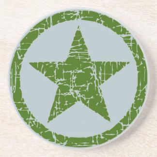 El práctico de costa, estrella en el círculo, verd posavasos diseño