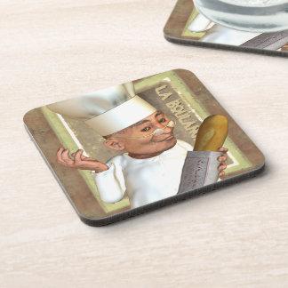 El práctico de costa francés de la panadería fijó  posavasos