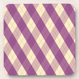 El práctico de costa violeta del corcho de MeanCli Posavasos De Bebidas
