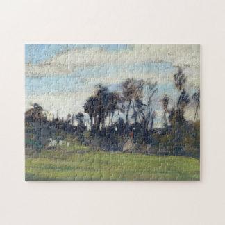 El prado alineado con la bella arte de Monet de Rompecabeza Con Fotos