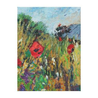 El prado florece 2012 lienzo envuelto para galerías