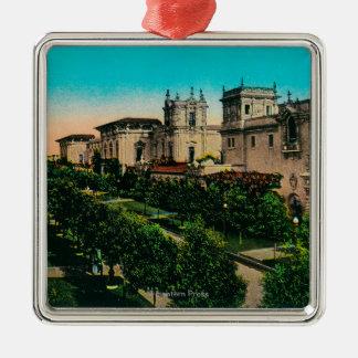 El Prado from West Gate, Balboa Park Metal Ornament