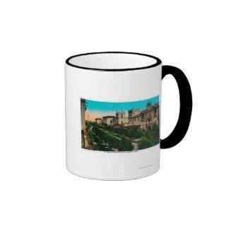 El Prado from West Gate, Balboa Park Ringer Mug