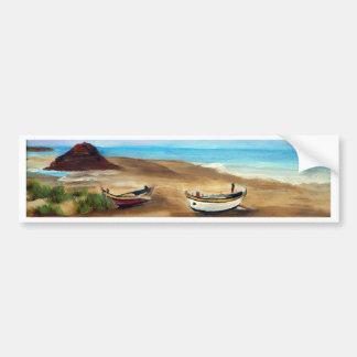 El Praia hace Meco - óleo - 20x40 Pegatina Para Auto