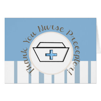 El Preceptor de la enfermera le agradece cardar Tarjeta De Felicitación