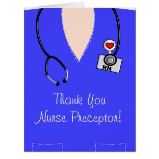 El Preceptor de la enfermera le agradece la Tarjeta De Felicitación Grande