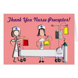 El Preceptor de la enfermera le agradece las tarje Tarjeta De Felicitación