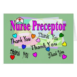 El Preceptor de la enfermera LE AGRADECE Tarjeta De Felicitación
