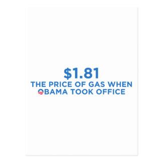 El precio del gas postales