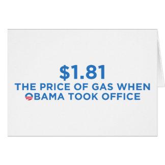El precio del gas tarjeta de felicitación
