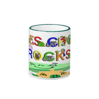 El preescolar oscila la seta tazas de café