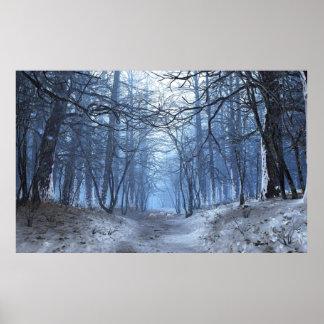 El premio de la elegía (invierno/día) desempaquetó póster