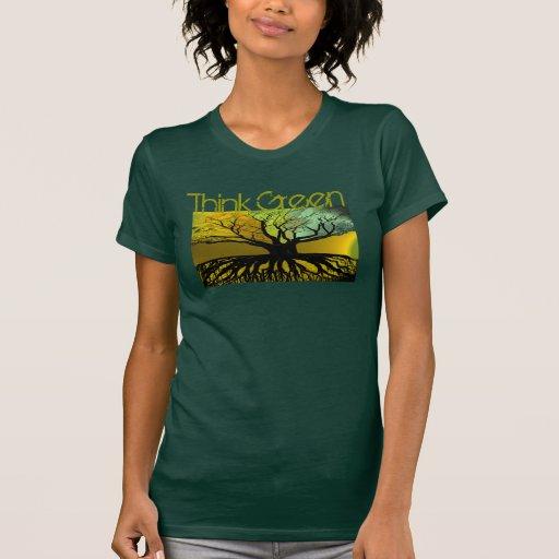 El PREMIO del TBA Ganador-Piensa el verde modifica Camisetas