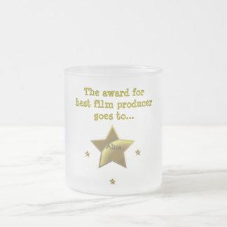 El premio para el mejor productor cinematográfico: taza de café esmerilada