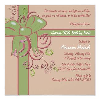 El presente - invitación de la fiesta de invitación 13,3 cm x 13,3cm
